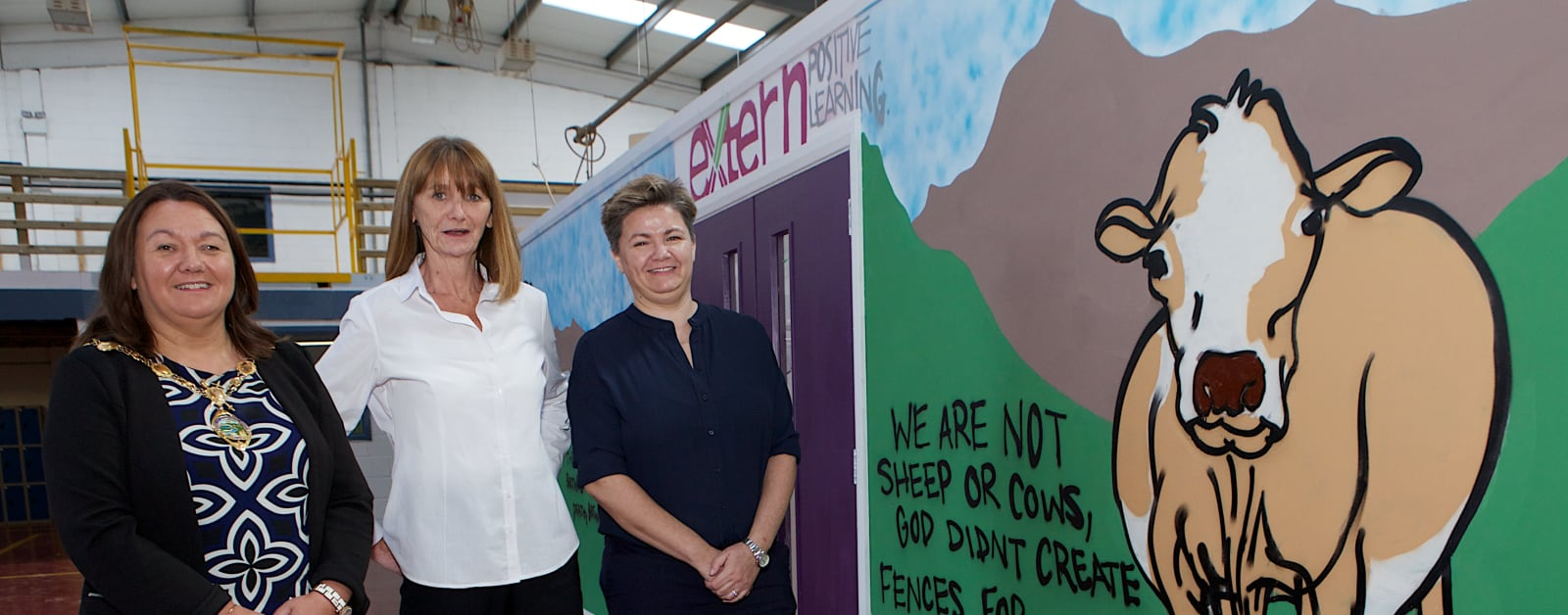 Graffiti for good: Extern's Positive Learning project celebrates  first year with new mural and exhibition
