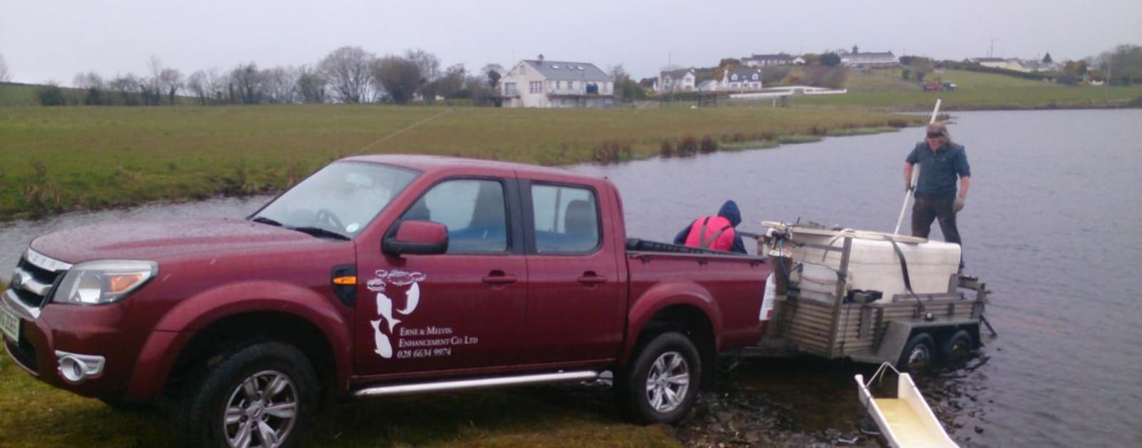 Extern take delivery of 500 Lough Trout at the site of our new Fishing Village