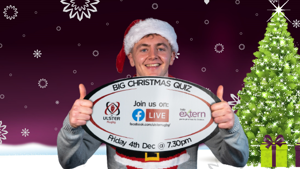 Join Extern and Ulster Rugby for the virtual Big Christmas Quiz